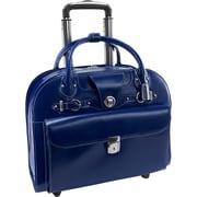 """McKleinUSA 15.4"""" Leather Wheeled Ladies' Laptop Briefcase (96317)"""