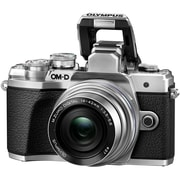 Olympus OM-D E-M10 Mark III 16.1 Megapixel Mirrorless Camera with Lens, 14 mm, 42 mm, Silver (V207072SU010)