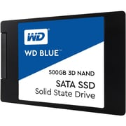 "WD Blue 3D NAND 500GB PC SSD, SATA III 6 Gb/s 2.5""/7mm Solid State Drive (WDS500G2B0A)"