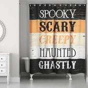 The Holiday Aisle Halloween Words Shower Curtain