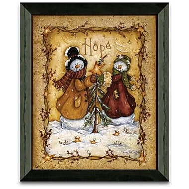 The Holiday Aisle 'Snow Folk Hope Christmas Holiday' Framed Graphic Art