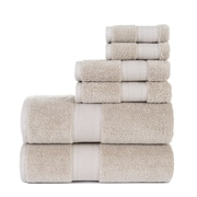 Darby Home Co Graco 6 Piece Cotton Towel Set; Taupe