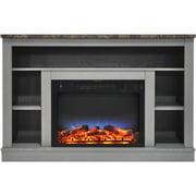 Charlton Home Eudora LED Electric Fireplace; Gray
