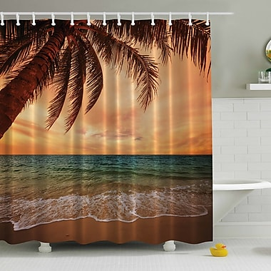Bay Isle Home Hammond Early Sunset 270 Degrees Print Shower Curtain