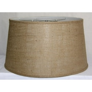 Darby Home Co 21'' Burlap Fabric Drum Lamp Shade