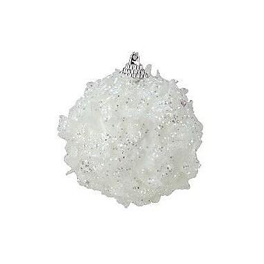 The Holiday Aisle Christmas Snow Ball Ornament (Set of 3)