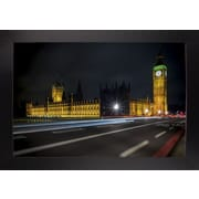 Ebern Designs 'Colors in the Night' Photographic Print; Black Wood Large Framed Paper