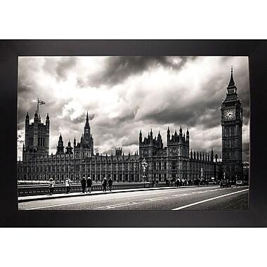 Ebern Designs '29 Aprile' Photographic Print; Black Wood Large Framed Paper