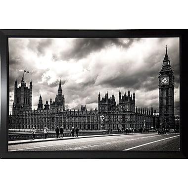 Ebern Designs '29 Aprile' Photographic Print; Black Plastic Framed Paper