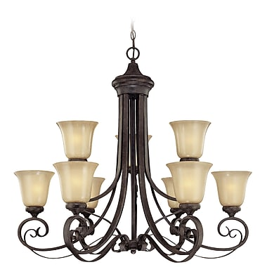 Fleur De Lis Living Wilhoit 9-Light Shaded Chandelier