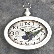 One Allium Way Egidio Lavender Savon Aux Herbes Provence Metal Wall Clock
