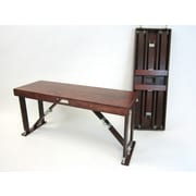 Red Barrel Studio Alpharetta Portable Folding Bench; Mahogany