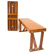 Red Barrel Studio Alpharetta Portable Folding Bench; Dark Walnut