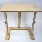 Red Barrel Studio Alpharetta Portable Folding Couch Tray Table; Natural Birch