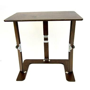 Red Barrel Studio Alpharetta Portable Folding Couch Tray Table; Dark Walnut