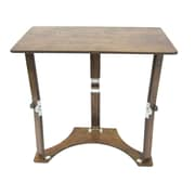 red barrel studio braswell folding laptop desktray table dark walnut