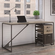 Williston Forge Riverside Industrial 2 Piece Rectangular Desk Office Suite w/ 3 Drawer Cabinet