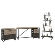 Williston Forge Riverside Industrial 4 Piece Rectangular Desk Office Suite