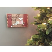 Williston Forge Reindeer Feed Holiday Banner or Sign