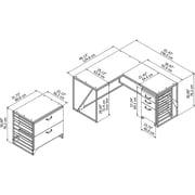 Williston Forge Riverside Industrial 3 Piece L-Shaped Desk Office Suite