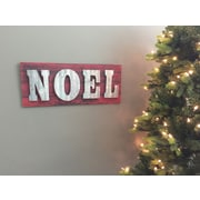 Williston Forge Noel Wooden Holiday Banner or Sign