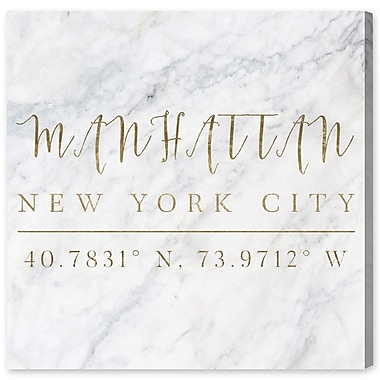 Willa Arlo Interiors 'Manhattan Coordinates' Textual Art on Wrapped Canvas; 43'' H x 43'' W x 2'' D