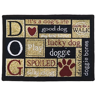 Winston Porter Leishman I Love Dogs Tapestry Area Rug; Rectangle 1'1'' x 1'7''