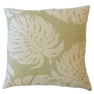 Bayou Breeze Maiah Floral Down Filled Lumbar Pillow; Palm