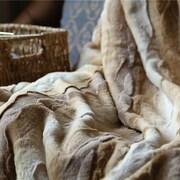 Bloomsbury Market Charline European Wolf Faux Fur Throw Blanket; 63'' x 87''
