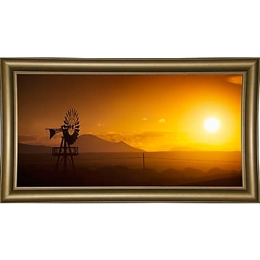 Ebern Designs 'Panorama Sunset No 2' Photographic Print; Bistro Gold Framed Paper