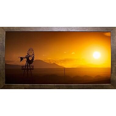 Ebern Designs 'Panorama Sunset No 2' Photographic Print; Cafe Mocha Framed Paper