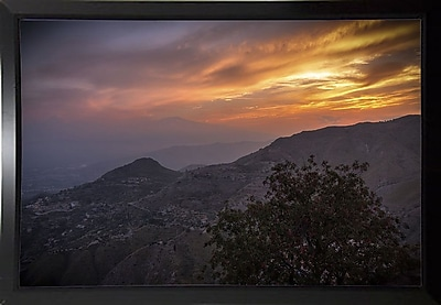 East Urban Home 'Looking for Etna' Photographic Print; Black Plastic Framed Paper