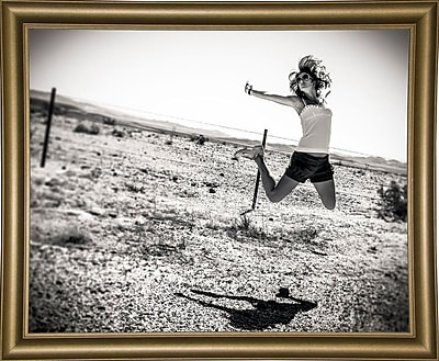 East Urban Home 'Music Over the Desert' Photographic Print; Bistro Gold Framed Paper