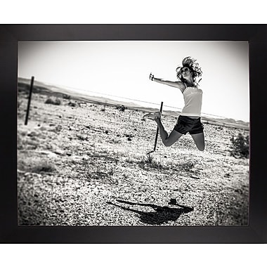East Urban Home 'Music Over the Desert' Photographic Print; Black Wood Large Framed Paper
