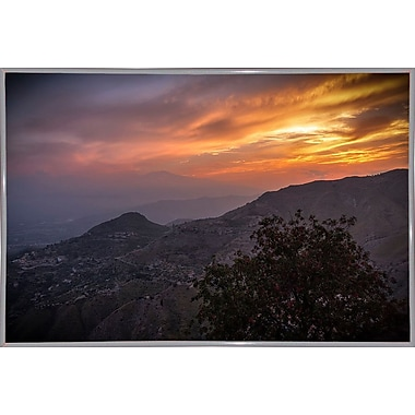 East Urban Home 'Looking for Etna' Photographic Print; White Metal Framed Paper