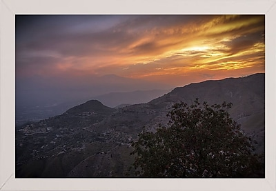 East Urban Home 'Looking for Etna' Photographic Print; White Wood Medium Framed Paper