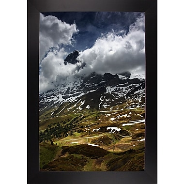 East Urban Home 'The North Face of Eiger' Photographic Print; Black Wood Large Framed Paper