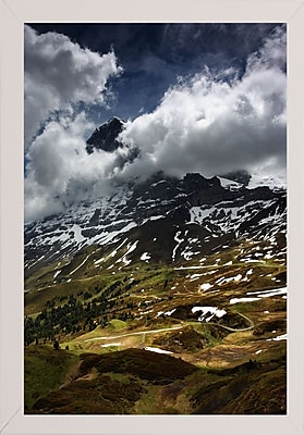 East Urban Home 'The North Face of Eiger' Photographic Print; White Wood Medium Framed Paper