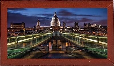 Ebern Designs 'Symmetries of London' Photographic Print; Red Mahogany Wood Medium Framed Paper