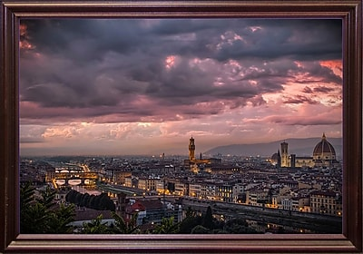 Ebern Designs 'After the Storm' Photographic Print; Cherry Wood Grande Framed Paper