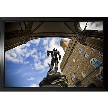 Ebern Designs 'Perseus' Photographic Print; Black Plastic Framed Paper
