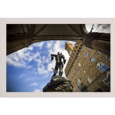 Ebern Designs 'Perseus' Photographic Print; White Wood Medium Framed Paper