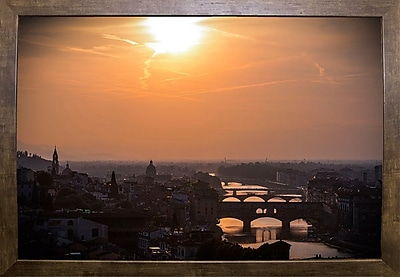Ebern Designs 'The Golden Hour' Photographic Print; Cafe Mocha Framed Paper