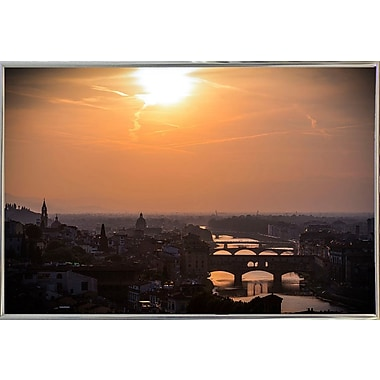 Ebern Designs 'The Golden Hour' Photographic Print; Silver Metal Framed Paper