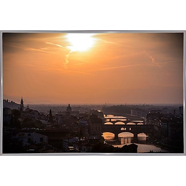 Ebern Designs 'The Golden Hour' Photographic Print; White Metal Framed Paper
