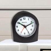 Ebern Designs Bedside Analog Alarm Clock; Black