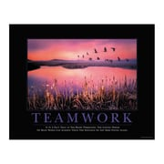 East Urban Home 'Teamwork Cranes' Motivational Graphic Art