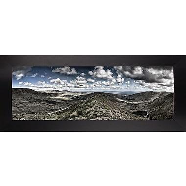 Latitude Run 'Panorama Lanzarote' Photographic Print; Black Wood Large Framed Paper