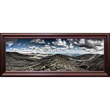 Latitude Run 'Panorama Lanzarote' Photographic Print; Cherry Wood Grande Framed Paper