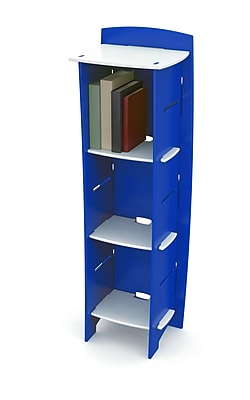 Harriet Bee Culley 48'' Bookcase; Blue/White